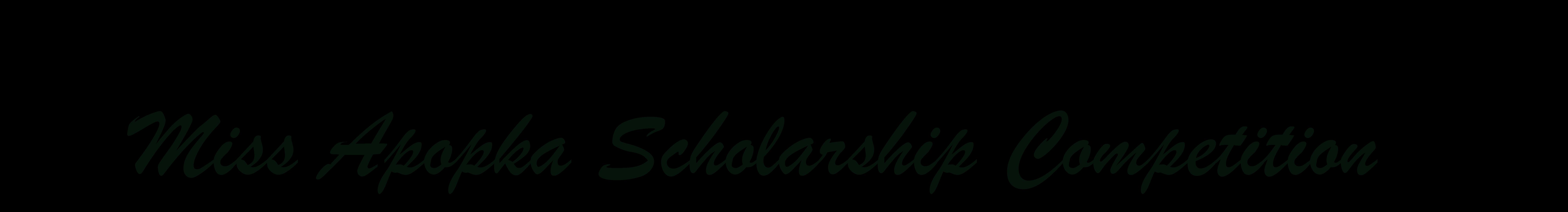 Miss Apopka Scholarship Competition